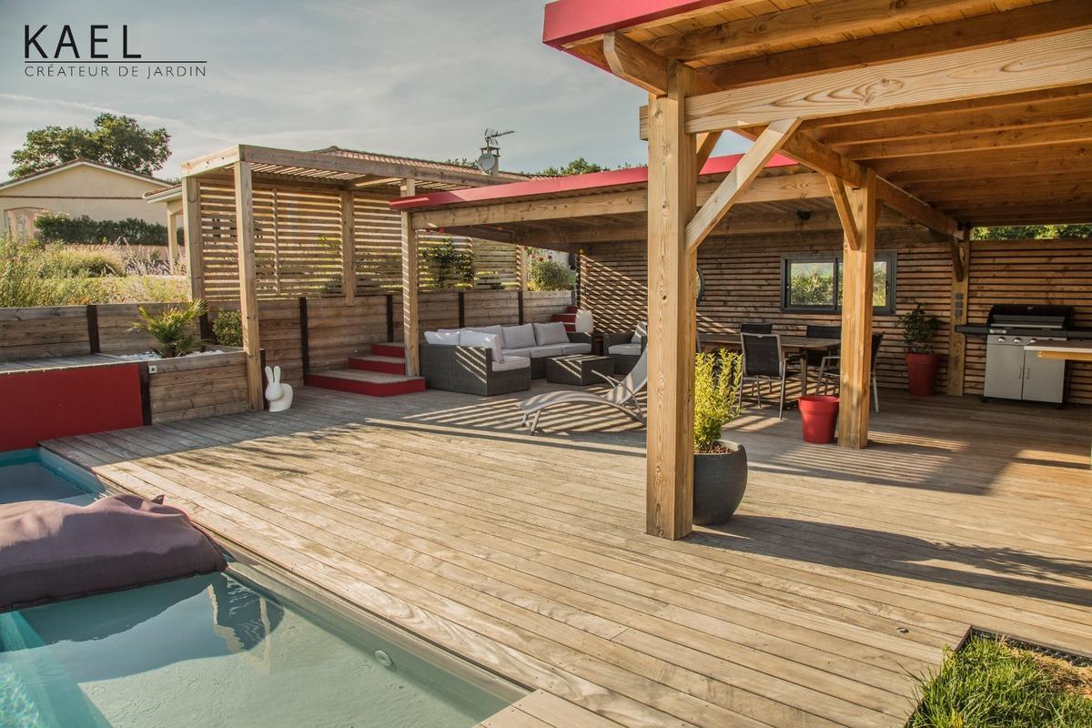 Création d'un pool house et d'une piscine à Saint-Léon