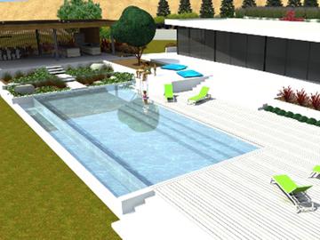 Construction d'une piscine à débordement sur Beaupuy