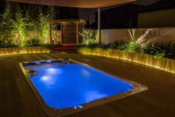 Création d'un jardin avec espace spa à Blagnac