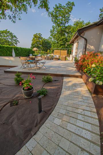 Création d'un espace détente et piscine à Vacquiers
